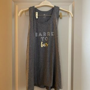Barre workout top